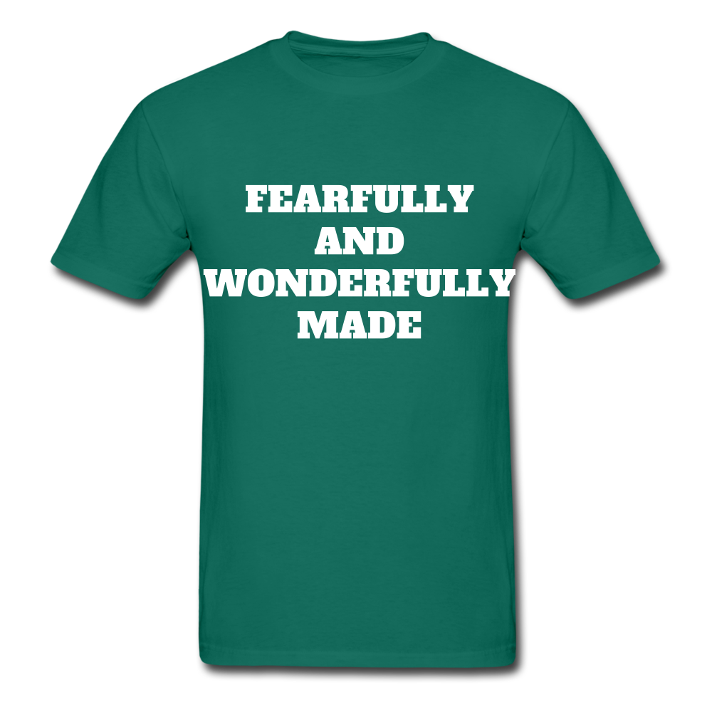 FEARFULLY AND WONDERFULLY MADE Ultra Cotton Adult T-Shirt - petrol