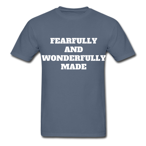 FEARFULLY AND WONDERFULLY MADE Ultra Cotton Adult T-Shirt - denim