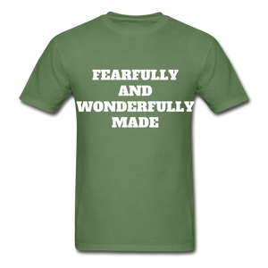 FEARFULLY AND WONDERFULLY MADE Ultra Cotton Adult T-Shirt - military green