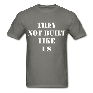 BUILT LIKE US Ultra Cotton Adult T-Shirt - charcoal