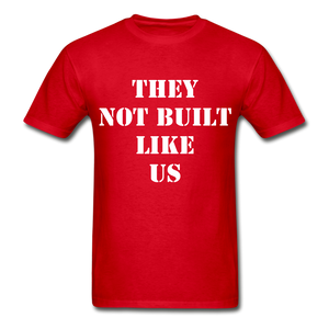 BUILT LIKE US Ultra Cotton Adult T-Shirt - red