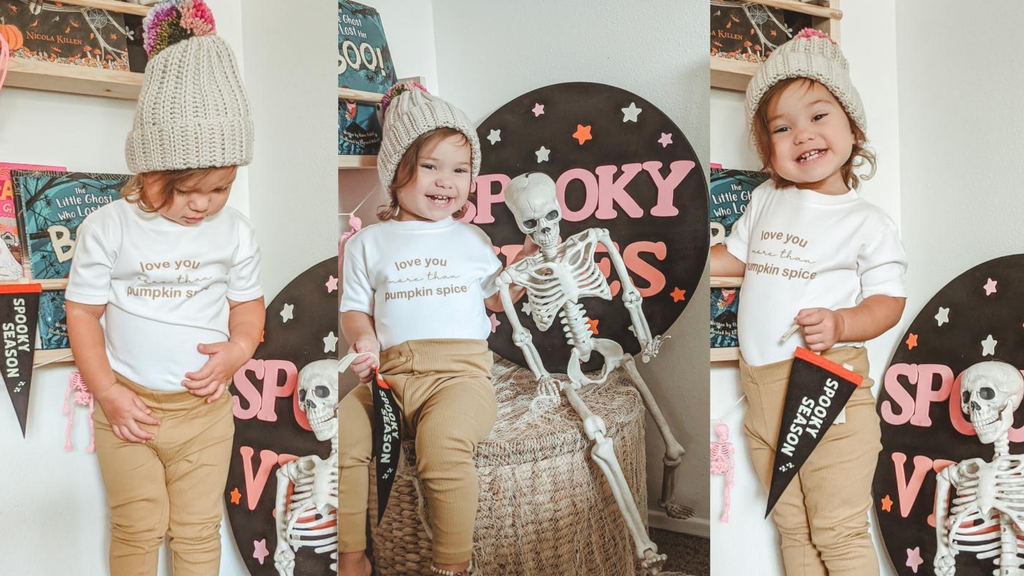 Cozy Fall Looks for kids pumpkin spice kids tshirt