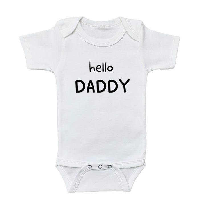 graphic bodysuits for babies, graphic onesie, graphic baby onesies, graphic baby tees and bodysuits, gender neutral graphic baby bodysuits and tees, newborn baby onesie, gender reveal baby onesie, baby graphic tee, cute baby onesies, baby girl bodysuits, newborn baby girl onesie, newborn baby girl bodysuit, daddy baby announcement, hello daddy onesie, baby announcement, pregnancy announcement, quarantine announcement, quarantine baby, 2020 baby, 2020 quarantine, 2020 pregnancy, baby onesie, baby onesies