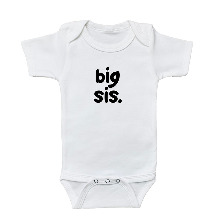 baby graphic bodysuit, big sis onesie, big sister onesie, kids shirt shop, baby shirt, shop baby, fun shirts, kids fun shirts, toddler fun shirts, family shirts