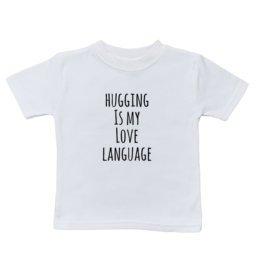 baby graphic tee, toddler graphic tee, love language toddler tee, kids shirt shop, baby shirt shop, baby fun shirts, kids fun shirts, toddler fun shirts, family shirts