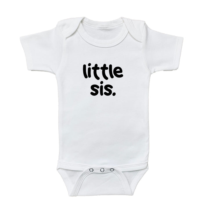 little sis onesie, little sister onesie, kids shirt shop, baby shirt, shop baby, fun shirts, kids fun shirts, toddler fun shirts, family shirts, baby announcement onesie, pregnancy announcement onesie