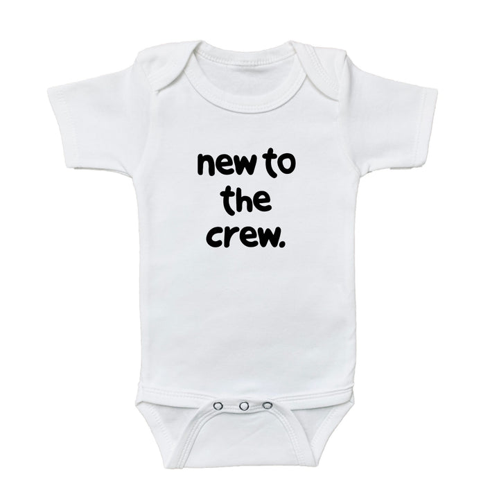 baby announcement, baby graphic bodysuit, new to the crew onesie, kids shirt shop, baby shirt, shop baby, fun shirts, kids fun shirts, toddler fun shirts, family shirts