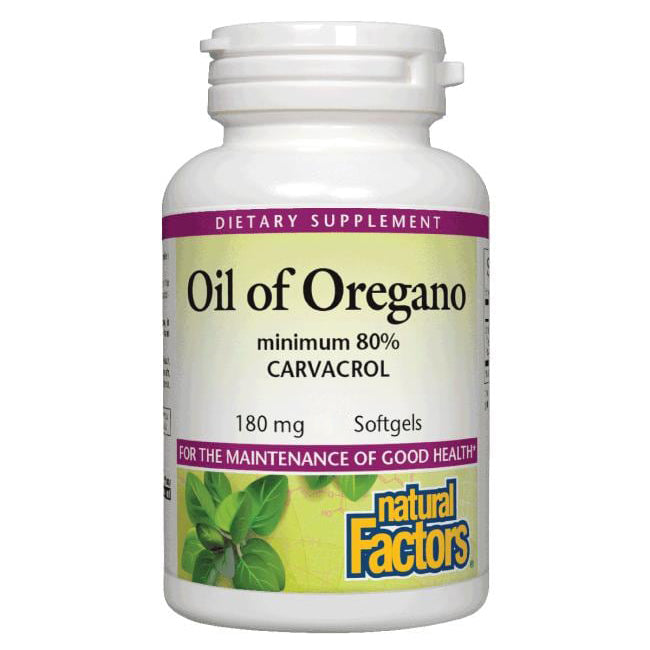 Natural Factors Oil of Oregano 180mg Softgels