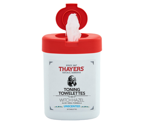 Thayers WITCH HAZEL Toning 30 Towelettes