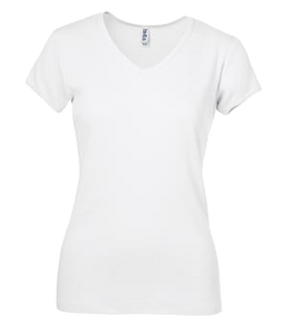 Cotton T-Shirts V Neck Bella Women's