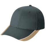 Double Contrast Hat - Pewter Graphics Custom Promotional Products