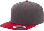 6 Panel Premium Snapback - Pewter Graphics Custom Promotional Products
