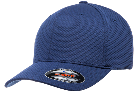 3D Hexagon Knit Jersey Cap - Pewter Graphics Custom Promotional Products