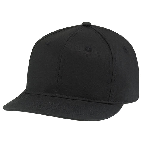 6 Panel Flat Brim Snapback - Pewter Graphics Custom Promotional Products
