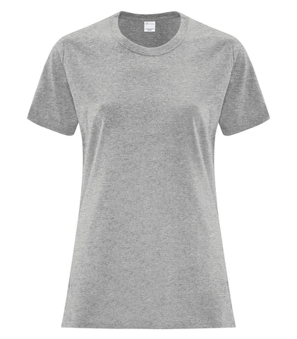 Everyday Cotton Tee - Ladies - Pewter Graphics Custom Promotional Products