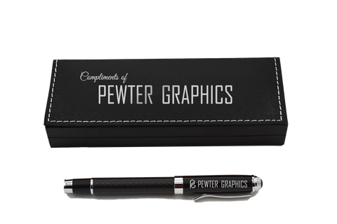 Carbon Fiber Pen - Pewter Graphics Custom Promotional Products