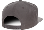5 Panel Snapback - Pewter Graphics Custom Promotional Products