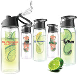 Flavor-it Infuser Water Bottle - Pewter Graphics Custom Promotional Products