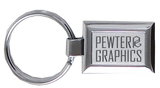 J03 Keychain - Pewter Graphics Custom Promotional Products