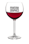 Red Wine Glass - Pewter Graphics Custom Promotional Products