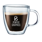 Double Wall Glass Mugs - Pewter Graphics Custom Promotional Products