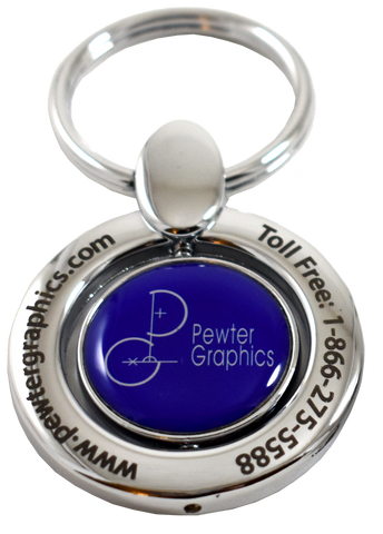 Chrome Swivel in Color - Pewter Graphics Custom Promotional Products