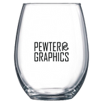 Stemless Wine Glass - Pewter Graphics Custom Promotional Products