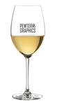 White Wine Glass - Pewter Graphics Custom Promotional Products