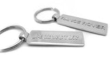 Chrome Tag Keychain - Pewter Graphics Custom Promotional Products