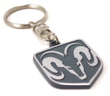 Ram's Head Keychain - Pewter Graphics Custom Promotional Products