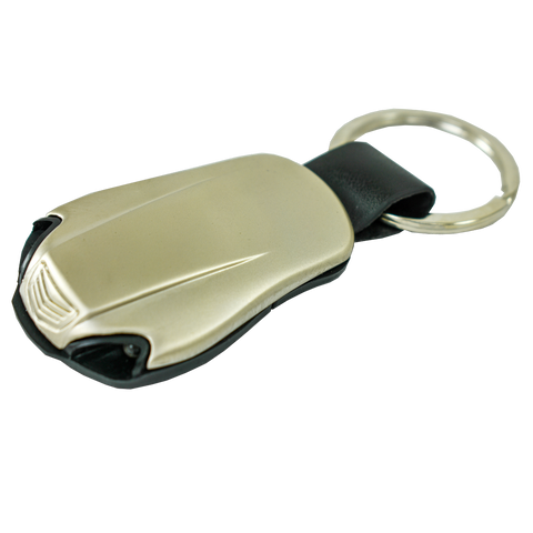 LED light Roadster Keychain - Pewter Graphics Custom Promotional Products