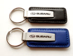 Leather Fob Keychain - Pewter Graphics Custom Promotional Products