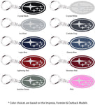 Subaru Logo Keychain - Pewter Graphics Custom Promotional Products