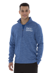 Dynamic 1/2 Zip Heather Fleece - Men - Pewter Graphics Custom Promotional Products