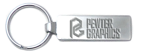 Chrome Tag Keychain