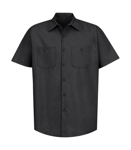 Short Sleeve Industrial Work Shirt - Pewter Graphics Custom Promotional Products