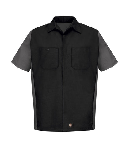 Short Sleeve Woven Crew Work Shirt