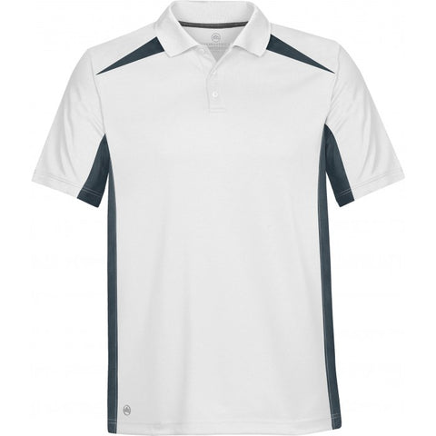 Match Tech Two-Tone Polo - Men - Pewter Graphics Custom Promotional Products