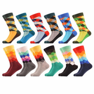 12-Pair Cotton Dress/Business Socks