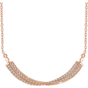 "14KT Rose Gold ""Lattice"" Necklace"