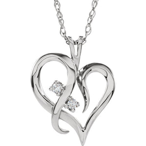 """Enchanted"" 14Kt White Gold Necklace"
