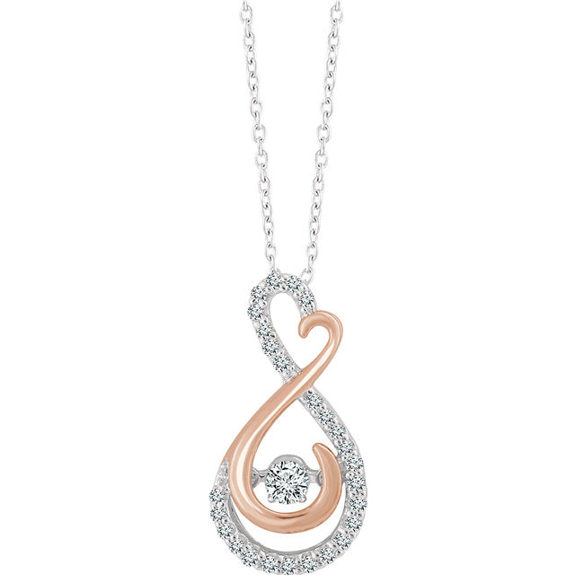 14kt rose gold infinite love necklace arvensis fine jewelry 14kt rose gold infinite love necklace aloadofball Image collections