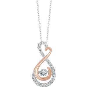 "14kt Rose Gold ""Infinite Love"" Necklace"
