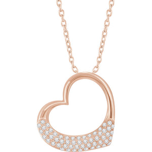 "14kt Rose Gold ""Heartcrush"" Necklace"