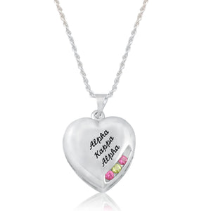 "AKA 14KT White Gold  ""Close to My Heart"" Necklace"