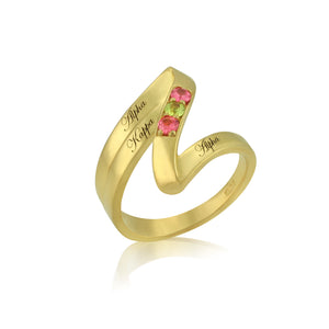 "AKA 14KT Yellow Gold ""Elegance"" Ring"