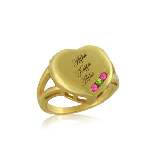 "AKA 14KT Yellow Gold ""Close to my Heart"" Ring"