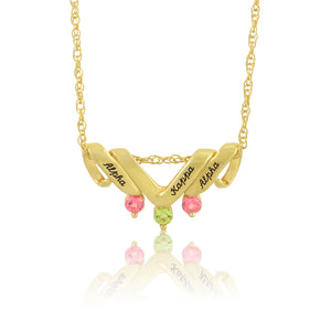 "AKA 14KT Yellow Gold  ""Beauty Sparkle"" Necklace"
