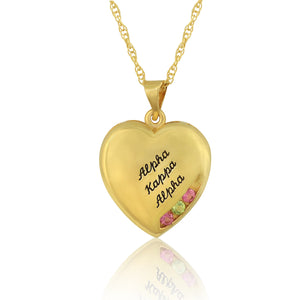 "AKA 14KT Yellow Gold  ""Close to My Heart"" Necklace"