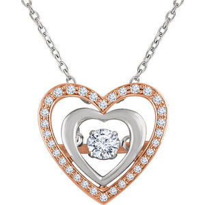"14kt Rose Gold ""Fantasy Love"" Necklace"